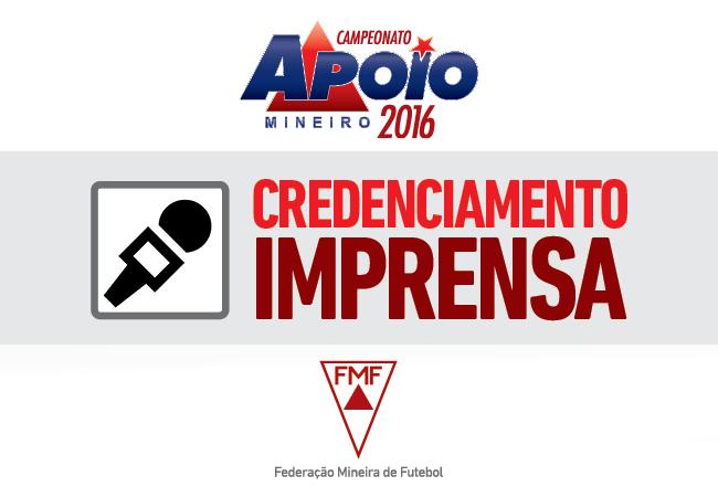 Relação de credenciados – Campeonato Apoio Mineiro – 3ª rodada