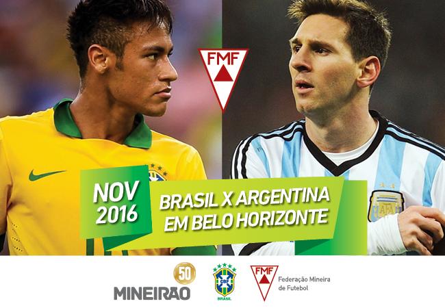Mineirão recebe Brasil x Argentina