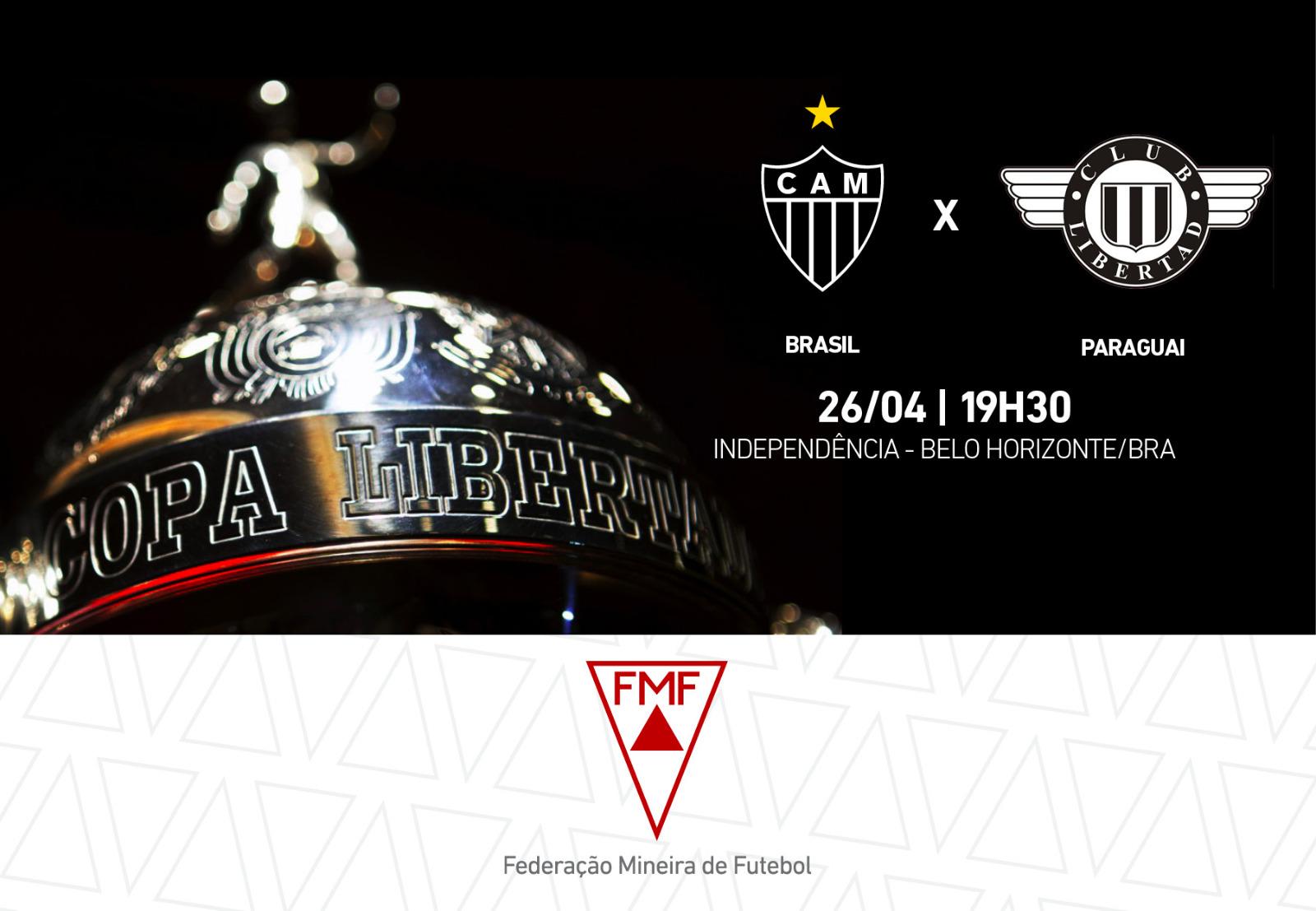 Venda de ingressos e serviços para Atlético x Libertad-PAR