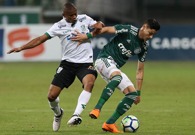 América empata com Palmeiras e dá adeus à Copa do Brasil