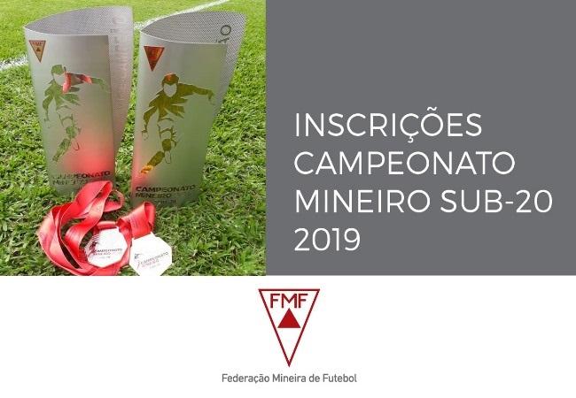 Campeonato Mineiro sub-20 2019 - inscrições abertas