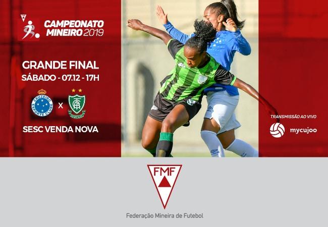 <h3>Vem aí a final do Mineiro Feminino 2019</h3><br><br>Cruzeiro e América fazem a grande final do Campeonato Mineiro Feminino 2019<br><br>A finalíssima acontecerá no dia 07/12 e vai fechar o CBF Social, evento promovido pela CBF, em parceria com a...