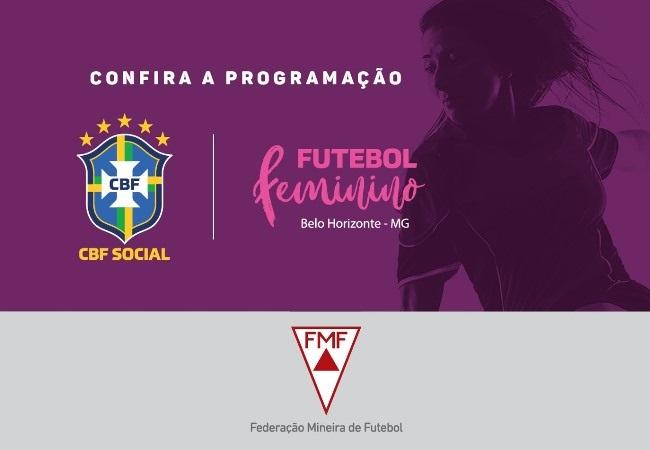 <h3>Inscrições abertas para o CBF Social</h3><div><br>A Federação Mineira de Futebol, em parceria com a CBF, organizará eventos para fomentar o futebol feminino em Minas Gerais, com palestras e práticas em busca de talentos para incentivar o cre...