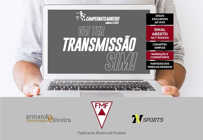 O Campeonato Mineiro do Módulo II terá transmissão de todos os jogos